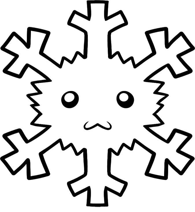 a small children pictorial snowflake coloring pages