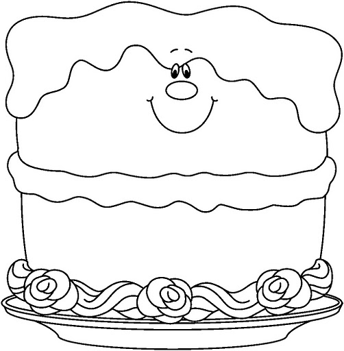 birthday cake picture color birthday_cake coloring birthday_cake_bw_thumb1 birthday_cupcake1_bw_thumb1