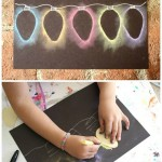 CHRISTMAS LIGHT CHALK ART