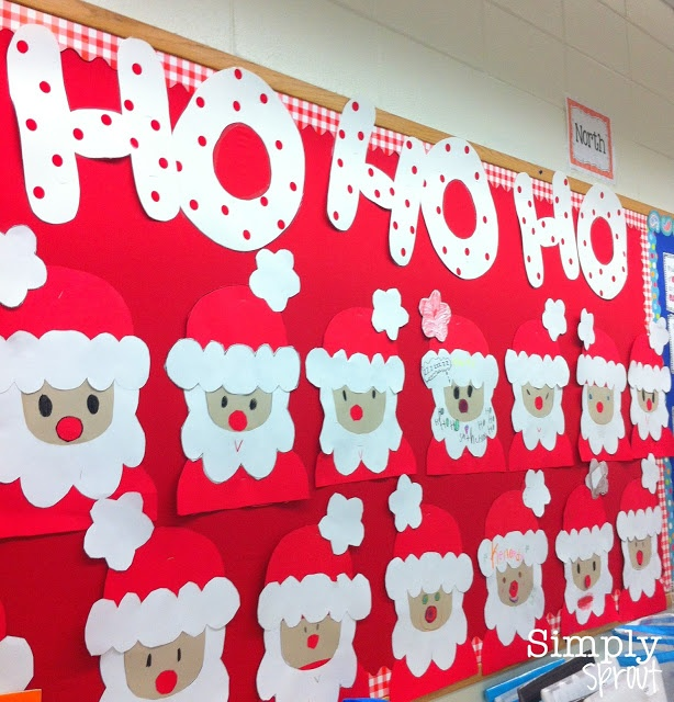 marvelous Christmas Bulletin Board For Preschool Part - 18: Christmas Bulletin Boards Santa