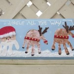 Christmas Handprint Plaque