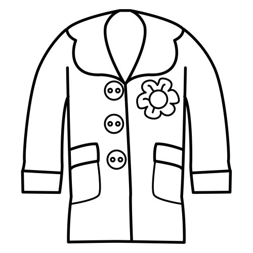 coat coloring pages - photo#4