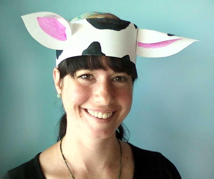 Cow ear hat craft
