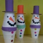 Cup Snowman craft