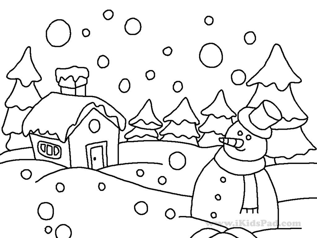 winter coloring pages kindergarten - photo#11