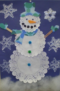 Doily Snowmen