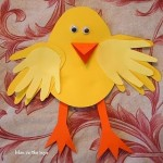 Easter chick craft using your kids Handprints