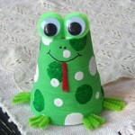 Easy frog craft Paper cup