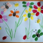 Fingerprint flowers and bugs