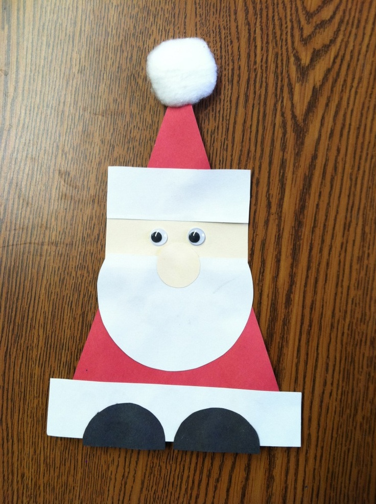 Crafts actvities and worksheets for preschool toddler and for Santa crafts for kindergarten