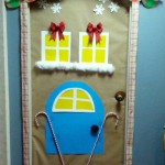 Gingerbread house for door decorating contest at work.