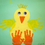 Handprint Baby Chick Craft