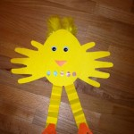 Handprint Easter Chick