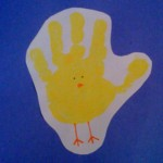 Handprint chick-