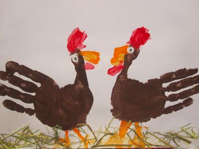 Handprint chickens