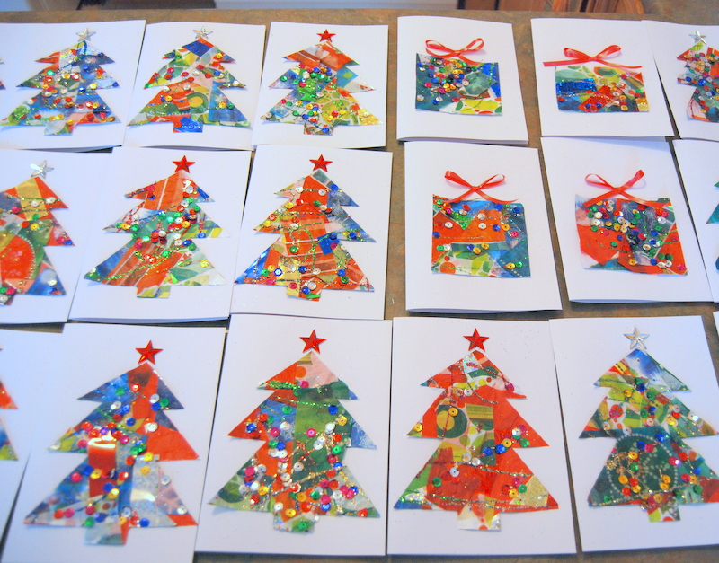 Christmas Tree Cards Ks1.Kids Christmas Card Craft Northstory Ca Crafts And