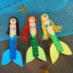 Little Mermaid Clothespin Dolls