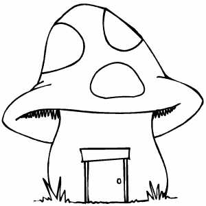 Mushroom coloring page | Crafts and Worksheets for Preschool,Toddler ...