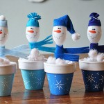 PLASTIC SPOON CRAFTS SNOWMEN