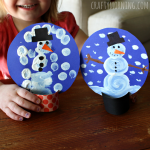 POM POM PAINTED SNOW GLOBES