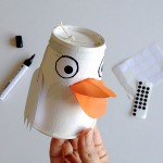 Paper Cup Duck Family Puppets