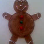 Paper Plate Gingerbread Man