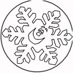 Printable Snowflake Faces