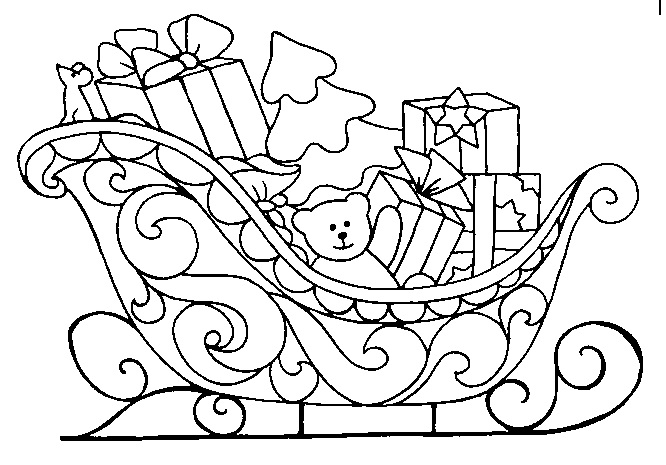 christmas sleigh coloring pages - photo#29