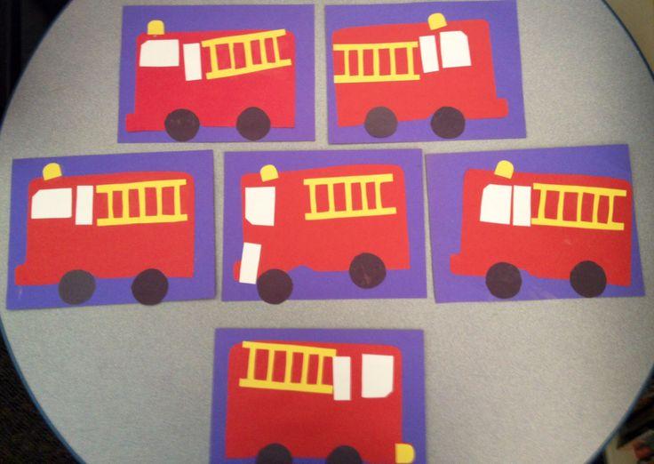 Transportation Week Fire Truck 2 on Worksheets For Pre Schoolers