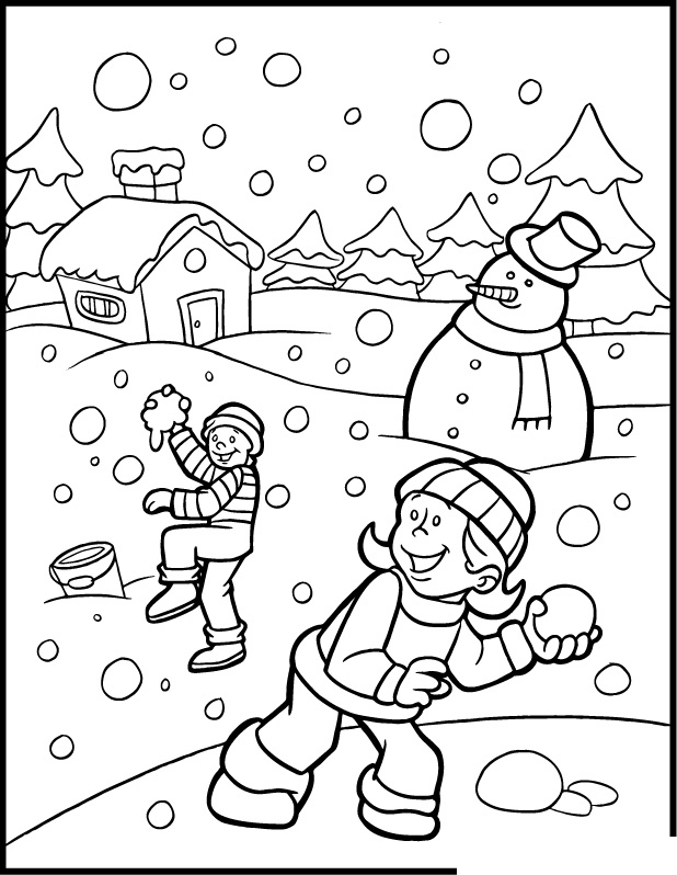 Winter Season Coloring Pages | Crafts and Worksheets for Preschool ...