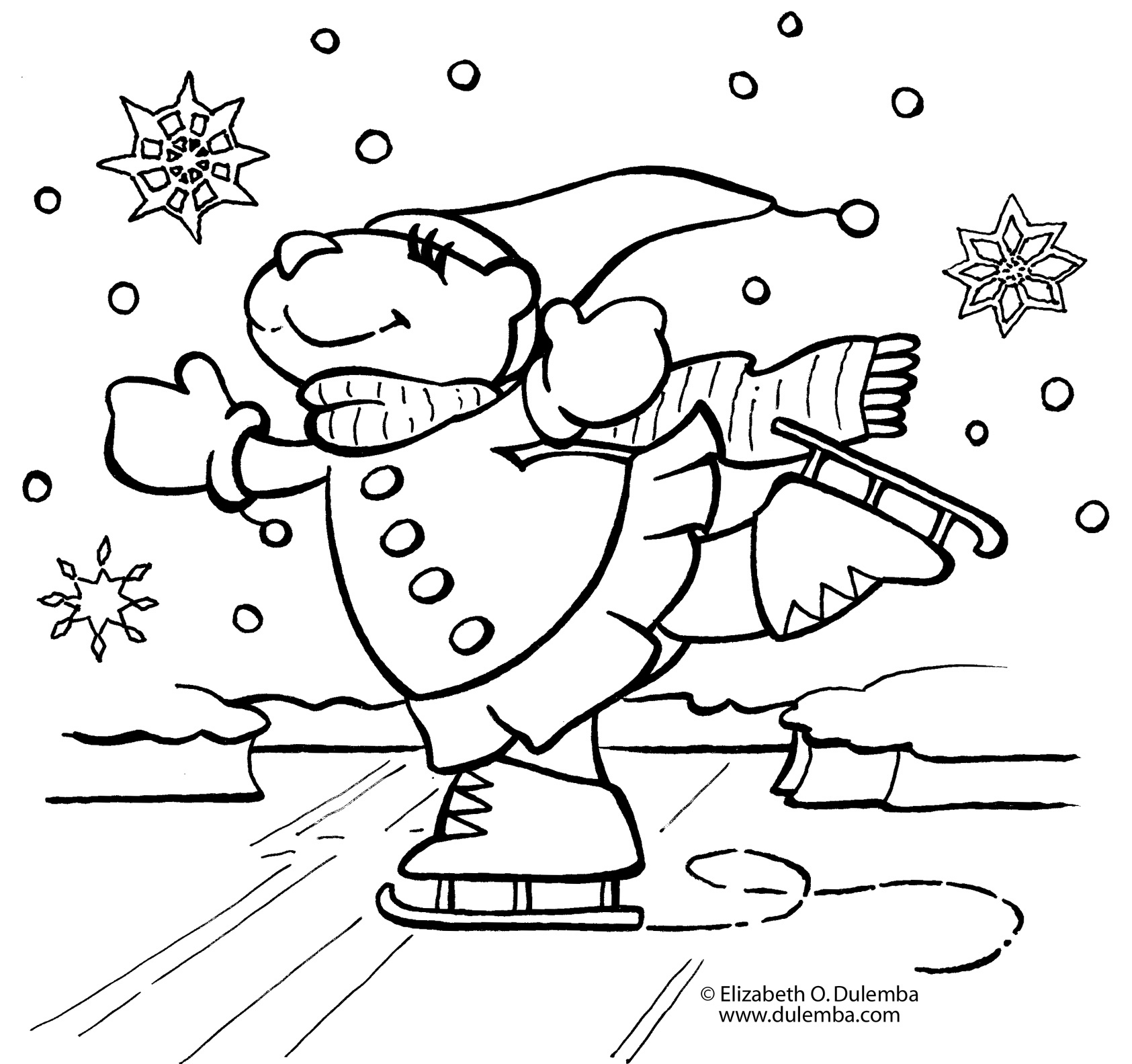 It is an image of Ridiculous Snow Coloring Page