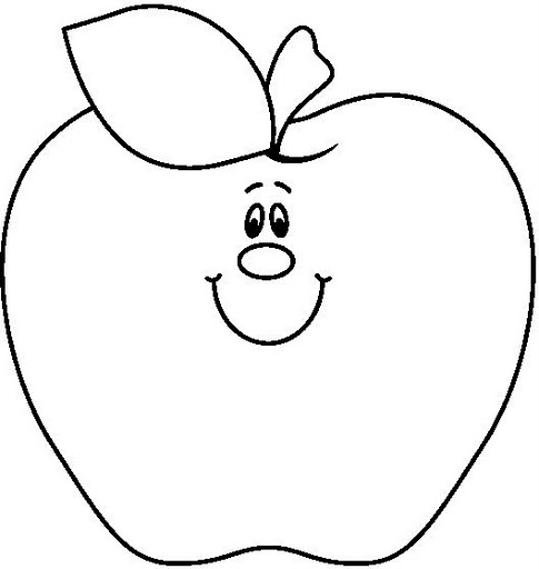 Fruit coloring pages and printables crafts and for Apple coloring pages