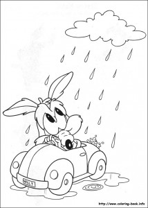 looney tunes halloween coloring pages - photo#40