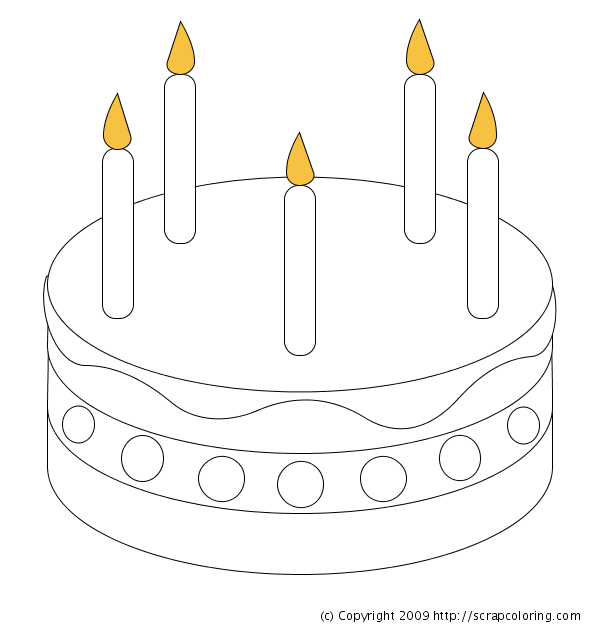 Birthday Cake Coloring Page   Crafts and Worksheets for ...