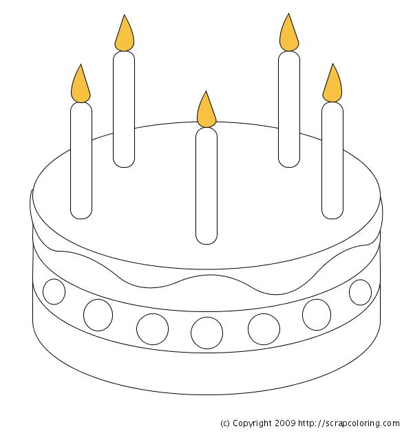 birthday cake picture color birthday_cake coloring birthday_cake_bw_thumb1 birthday_cupcake1_bw_thumb1 - Blank Birthday Cake Coloring Pages