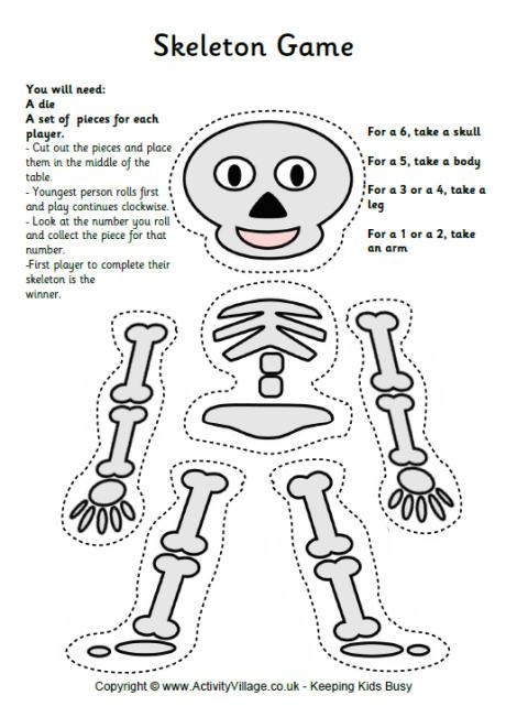 Bones, Bones, Bones...Worksheet! (MichellesCharmWorld ...