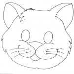 cat mask coloring page (2)