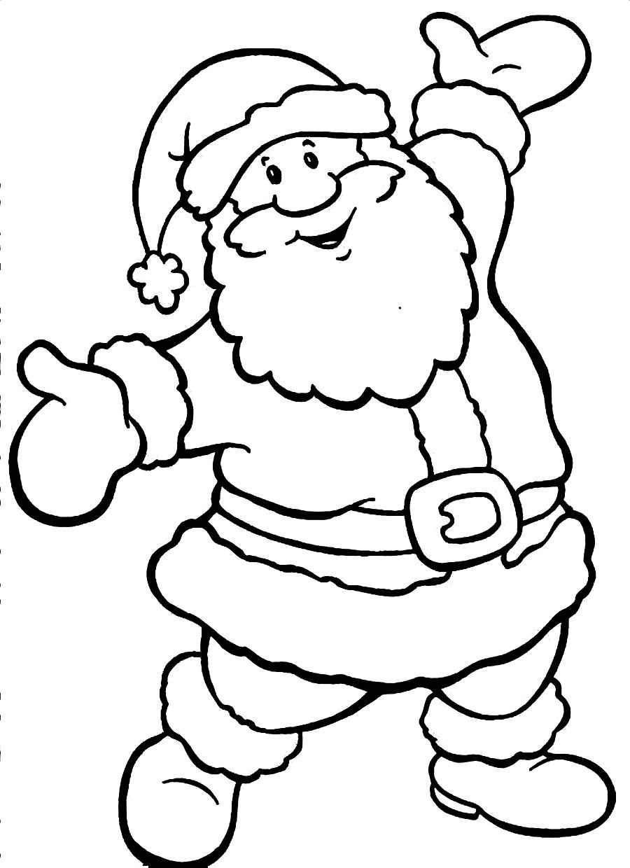 Santa claus coloring pages crafts and worksheets for for Santa coloring pages free