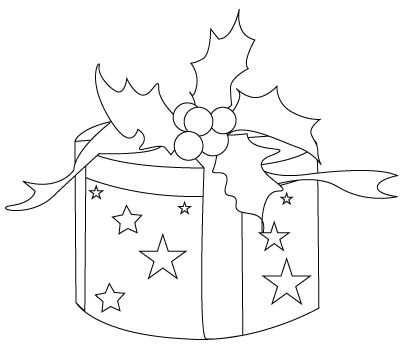 Drawings Of Christmas Presents.Christmas Present Drawing To Color Crafts And Worksheets