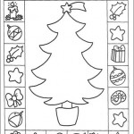christmas tree card coloring