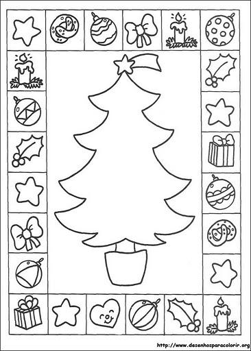 christmas tree card coloring