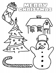 Christmas cards coloring page  Crafts and Worksheets for