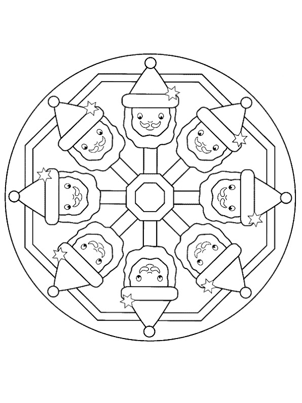 Christmas mandala coloring pages | Crafts and Worksheets for ...