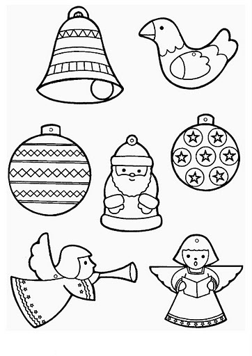 Christmas ornaments coloring pages and sheets | Crafts and ...