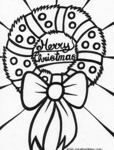 Christmas wreath coloring pages