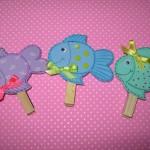 clothespin fish