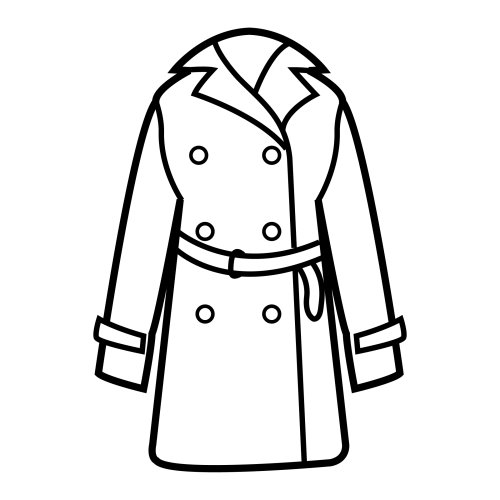 coat coloring pages - photo#1