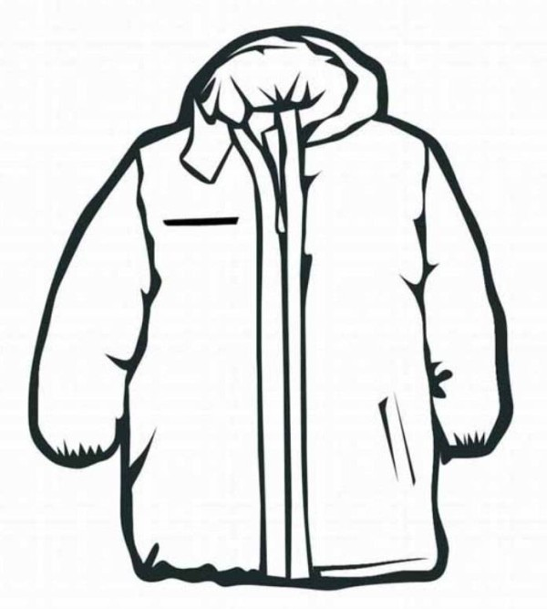 Coat Winter Clothes Coloring Page