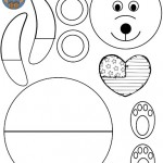 cut paste bear craft