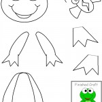 cut paste frog craft